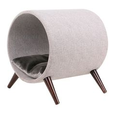 Cat Tree: Cat Craft 4308601 Tunnel Bed, Grey and Brown Wooden Legs Cat Furniture, 15 Inch Pet Beds, Dog Bed, Heated Cat Bed, Cat Room, Cat Condo, Pet Furniture, Cat Crafts, Cat Supplies, Grey Bedding