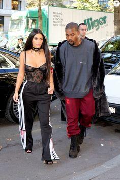 Kim Kardashian et Kanye West à Paris le 29 septembre 2016. © Agence / Bestimage
