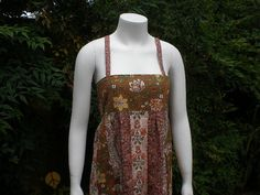 Handmade Hippie Inspired Patchwork Dress OOAK by frans2hands, $99.00