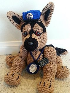 free video tutorial ,Ravelry: Crochet German Shepherd Dog pattern by Helen Brady