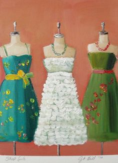 Shop Girls by Janet Hill