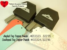 Patty's Top 10 picks from the 2014 Stampin Up Occasions catalog - tag topper punches.. amazing! www.PattyStamps.com