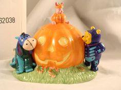 Disney Halloween Winnie The Pooh Piglet Ceramic Treat Jar Figurine Eeyore
