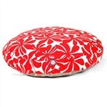Large Round Pet Bed Red Plantation