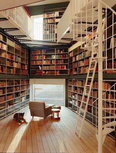 Home library - I want this so bad! So so bad! @Ali Velez Roberts Pennell thought of you when I saw this too! :)