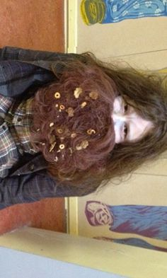 Aoife dressed up as Mr Twit for Dahl Day