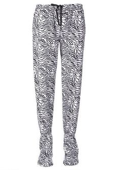 Microfleece Footies Zebra Print......I need these right now.