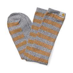 Carhartt Basis Socks in Black Heather Carhartt Brown
