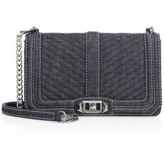 Rebecca Minkoff Chevron Quilted Denim Love Crossbody Bag (15.985 RUB) ❤ liked on Polyvore featuring bags, handbags, shoulder bags, quilted hand bags, crossbody shoulder bag, hand bags, blue shoulder bag and handbags shoulder bags