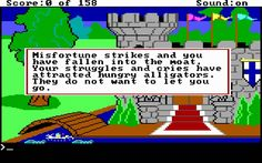 King's Quest 1: Quest for the Crown adventure retro game - Abandonware DOS