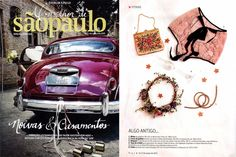 Jornal Folha de São Paulo - Revista O Melhor de Sao Paulo 01 a 07 Março 2015 -  Coroa de galhos de Kiwi e flores especialmente desidratadas aqui no atelier. Vanessa Oz - Flores