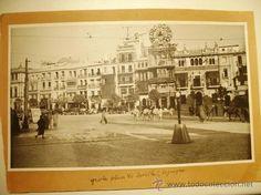 1920c. - PLAZA DE SEVILLA. FOTO ORIGINAL. GRANDE 29x17 cm. - Foto 1