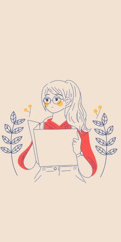 Free Art - Woman holding a guidebook or map - Mixkit Drawing Wallpaper, Anime Scenery Wallpaper, Pretty Art, Cute Art, Doodle Art Journals, Illustration Art Drawing, Dibujos Cute, Cute Kawaii Drawings, Anime Drawings Sketches