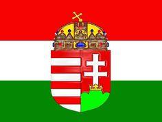 Hungarian flag with crest