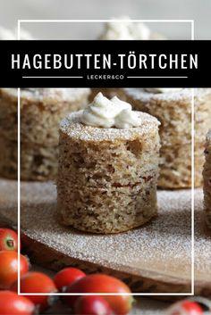 Buchweizen-Hagebutten-Törtchen mit Frischkäsetopping   glutenfrei