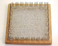 Weave it loom with glittery cobweb yarn