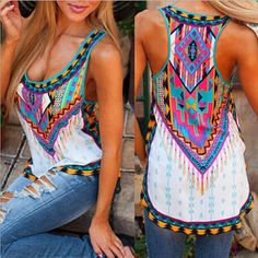 Aztec Print Summer Top - plus size available. Please see sizing chart in photos!!! Item Type Tops Gender Women Decoration None Clothing Length Regular Pattern Type Print Fabric Type Broadcloth Materia