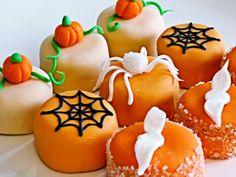 Sweet Halloween Petit Four Treats - recipe included!