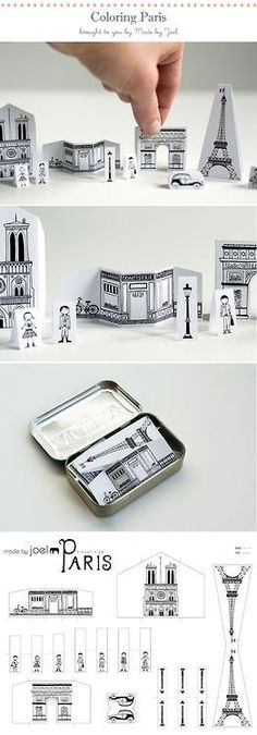 Your Pocket DIY Paper City Paris via Made by Joel - carry Paris in your pocket!DIY Paper City Paris via Made by Joel - carry Paris in your pocket! Paper Art, Paper Crafts, Diy Crafts, Little Presents, Puffy Paint, Diy Papier, Altoids Tins, Ideias Diy, Paris Party