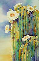 Queen of the Desert by Yvonne Joyner Watercolor ~ 21 in. image x 14 in image
