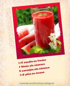 Este jugo es ideal para eliminar la retención de liquidos en el cuerpo. Vierte todos los ingredientes en el extractor de jugos y bebe enseguida. www.facebook.com/natuvit www.natuvit.com.mx