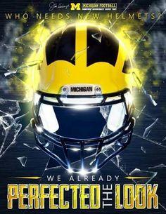 This is Michigan! Michigan Go Blue, Michigan Wolverines Football, New Helmet, University Of Michigan, College Football, Football Helmets, Danielle Bregoli, Sports, Tigers
