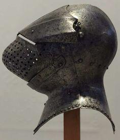 Helmet Armor, Suit Of Armor, Arm Armor, Medieval Helmets, Medieval Weapons, Fantasy Armor, Medieval Fantasy, Hand Cannon, Costume Armour
