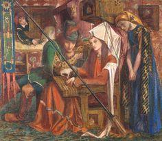 Dante Gabriel Rossetti 'The Tune of the Seven Towers', 1857