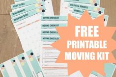 Woah, this FREE printable moving kit is chock full of printables and checklists for an organized move. Print, add to your binder, and have the most organized move ever!