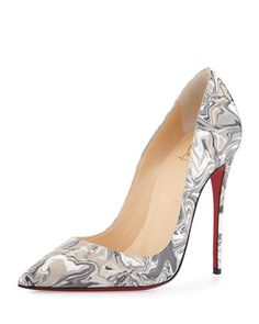 So Kate Marbled Red Sole Pump, Black by Christian Louboutin at Neiman Marcus.