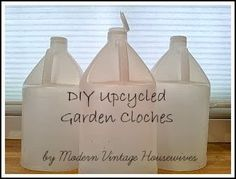 Modern Vintage Housewives: DIY Upcycled Garden Cloches