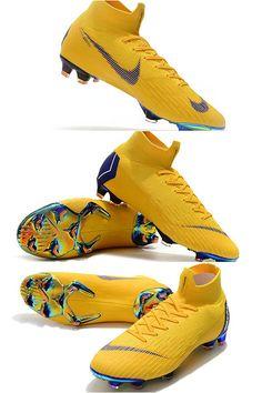 2d25330d9c22b Nike Mercurial Superfly VI Elite FG Botas de Futbol - Amarillo Azul