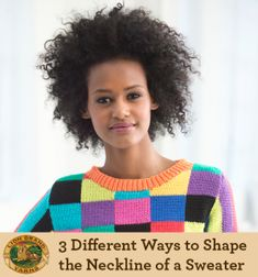 3 Different Ways to Shape the Neckline of a Sweater