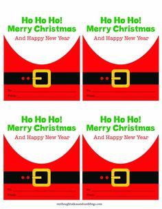 Printable Santa Gift Tags https://mythoughtsideasandramblings.com/printable-santa-gift-tags/