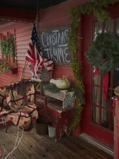 1000 Images About Primitive Christmas Porch Outdoor