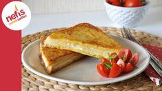 Tavada Yumurtalı Tost | Fransız Tostu Tarifi Pie Recipes, Dessert Recipes, Cooking Recipes, Desserts, Oven French Toast, Recipe Mix, Turkish Recipes, Food Cakes, Savoury Dishes