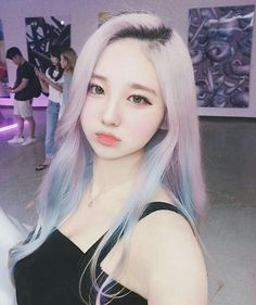Ideas for hair color asian ulzzang Pelo Ulzzang, Ulzzang Korean Girl, Girl Hair Colors, Cool Hair Color, Hair Colour, Uzzlang Girl, Pastel Hair, Purple Hair, Pastel Pink