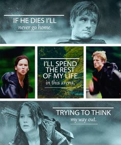"""'You're still trying to protect me.  Real or not real,' he whispers.  'Real,' I answer.  'Because that's what you and I do, protect each other.'"" — Peeta + Katniss"