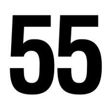 55 | Number 55 Helvetica Poster