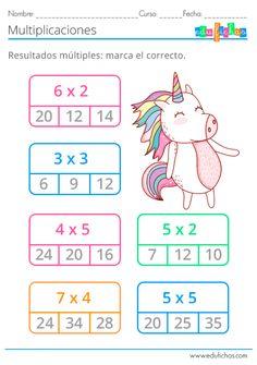 Multiplication Games For Kids, Multiplication Facts Worksheets, 1st Grade Math Worksheets, 2nd Grade Math, Math Games, Go Math, Math For Kids, Lessons For Kids, Math Lessons