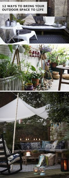 As the weather grows warmer, why not explore opportunities for making more of your balcony, garden or veranda? From lighting, plants and textiles through to comfy seating, click for 12 ways to bring your outdoor space to life.