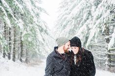 Romantic Winter Engagement   Imago Dei Photography   Warm and Cozy Snowfall Engagement Portraits