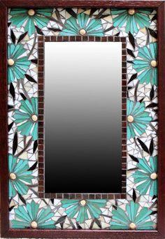 Mosaic Artists Gallery of Artistic Mosaic Mirrors, Pool Borders, Mosaic Tile Borders and Decor by Artists Carl and Sandra Bryant Mosaic Tile Art, Mirror Mosaic, Mosaic Diy, Mosaic Crafts, Mosaic Projects, Mosaic Glass, Mirror Bathroom, Mosaic Designs, Mosaic Patterns