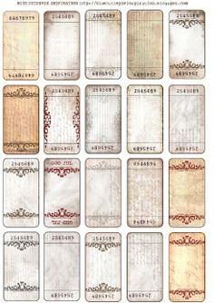 Printable Tickets, Printable Labels, Printable Paper, Free Printables, Free Tickets, Labels Free, Printable Vintage, Vintage Tags, Vintage Labels