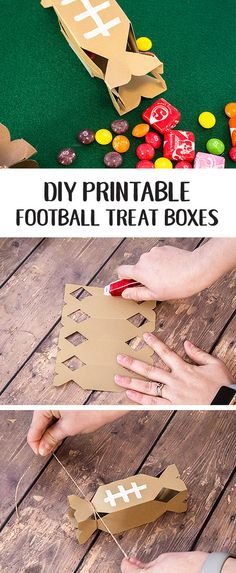 When it comes to handing out party favors on game day you'll want a fun treat that's easy as well as delicious. That's where this craft idea for DIY Printable Football Treat Boxes comes in handy! Tailgating guests young and old are sure to enjoy this football-themed combination of Starburst and Skittles. Simply pick up the ingredients you need at your local Target and let's get creating.