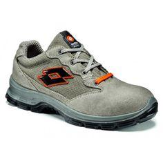 Zapato Lotto Sprint 501 EN ISO 20345 S1P SRC gris Referencia  Q8357 Marca:  Industrial Starter  Empeine: Piel engamuzada / Nylon  Forro: Air Mesh  Suela: Poliuretano bidensidad  Plantilla: Rexist antiperforante (no metálico)  Puntera: Acero  Tallas: del 38 al 47