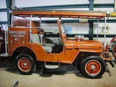 Brady & Rural Fire Dept. Jeep Willys Brush Truck
