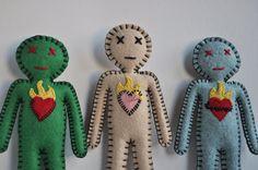 Flaming Heart Break Up Voodoo Doll