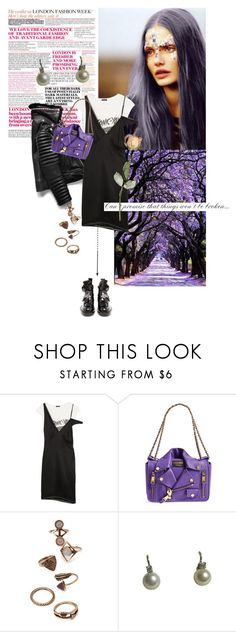 """""""boysenberry jam"""" by la-rosy ❤ liked on Polyvore featuring R13, Moschino, Forever 21, Balenciaga and purple"""