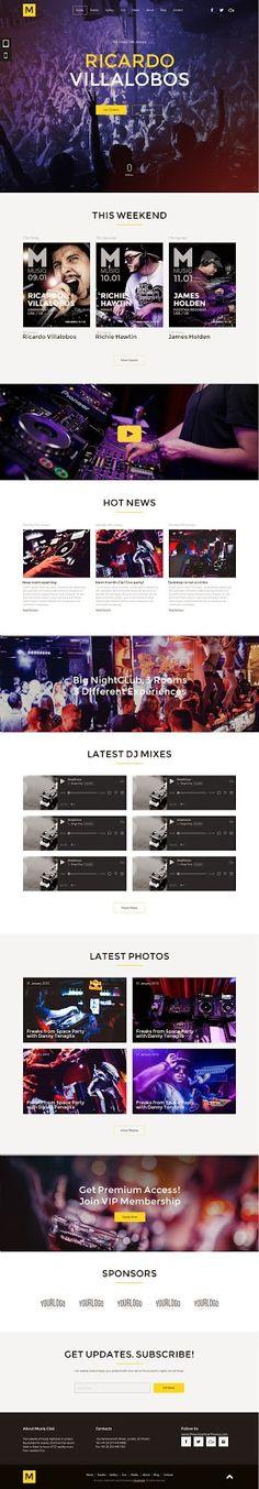 Musiq #Nightclub Website Muse #Template 2015 #adobe